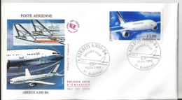 Enveloppe Premier Jour - FDC -  Airbus Blagnac - 1999 - A300-B4 - Aviation - 1990-1999
