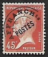 Preo   67  -  Pasteur   45c  Rouge   - Nsg - Préoblitérés