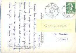 PYLA SUR MER GIRONDE TàD RECETTE DISTRIBUTION Du 19-5-1956 - Marcofilia (sobres)