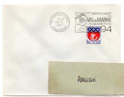 VAL De MARNE - Dépt N° 94  CHEVILLY LARUE 1967 = FLAMME Codée à DROITE = SECAP  ' N° De CODE POSTAL / PENSEZ-Y ' - Zipcode