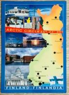 Ansichtskarte Finland Finlandia Arctic Circle ...schöne Map Postcard Landkarte - Finland