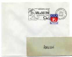 VAL De MARNE - Dépt N° 94  CHOISY Le ROI 1966 = FLAMME Codée = SECAP  ' N° De CODE POSTAL / PENSEZ-Y ' - Zipcode