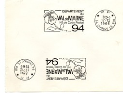 VAL De MARNE - Dépt N° 94  CHOISY Le ROI 1966 = FLAMME PP Codée = SECAP  ' N° De CODE POSTAL / PENSEZ-Y ' - Postleitzahl