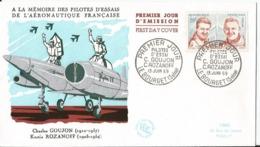 """Enveloppe   -  Premier Jour - FDC - Pilote D""""essai - Le Bourget - 1959 - Goujon Rozanoff - Aviation - FDC"""