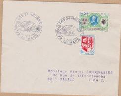 ENVELOPPE TIMBRE  1969 LES 24 HEURES LE MANS - Marcophilie (Lettres)