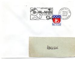 VAL De MARNE - Dépt N° 94  CRETEIL Ppal  1966 = FLAMME Codée = SECAP  ' N° De CODE POSTAL / PENSEZ-Y ' - Postleitzahl