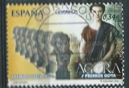 ESPAGNE SPANIEN SPAIN ESPAÑA 2010 CINEMA PREMIOS GOYA: AGORA USED ED 4554 YT 4201 MI 4495 SG 4554 SC 3705 - 2001-10 Used