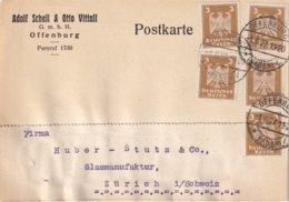 ALLEMAGNE 1927 CARTE DE OFFENBURG - Deutschland