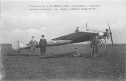 60-VIDAMEE-AERODROME, ENTRE CHANTILLY ET SENLIS, MONOPLAN RUCHONNET- LE CIGARE- - Chantilly