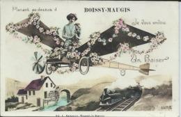 Planant Au Dessus De Boissy Maugis Je Vous Envoie Un Baiser.Ecrite Par L.Delatang. - France