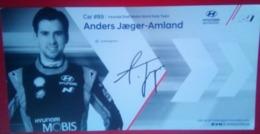 Hyundai Motorsport Andreas Mikkelson And Anders Jaeger Amland - Handtekening