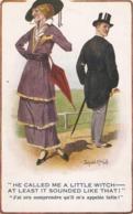 """Donald McGill. He Called Me A Little Witch.,,"" Inter-Art Comique Ser. PC # 1285 - Mc Gill, Donald"