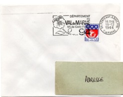 VAL De MARNE - Dépt N° 94  FONTENAY Sous BOIS Ppal 1966 = FLAMME Codée = SECAP  ' N° De CODE POSTAL / PENSEZ-Y ' - Zipcode