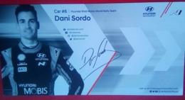 Hyundai Motorsport Carlos Del Barrio  And Dani Sordo - Handtekening
