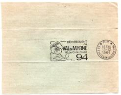 VAL De MARNE - Dépt N° 94  FONTENAY Sous BOIS Ppal 1966 = FLAMME PP Codée = SECAP  ' N° De CODE POSTAL / PENSEZ-Y ' - Zipcode