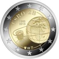 "BELGICA  2€ 2.018  2018  BIMETALICA ""50 YEARS ESRO""  SC/UNC T-DL-12.291 - Bélgica"