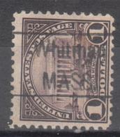 USA Precancel Vorausentwertung Preo, Locals Massachusetts, Whitman 571-456 - United States