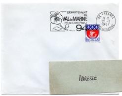 VAL De MARNE - Dépt N° 94  FRESNES 1967 = FLAMME Codée = SECAP  ' N° De CODE POSTAL / PENSEZ-Y ' - Postleitzahl