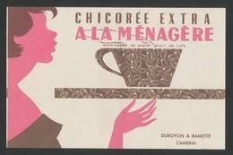 Buvard - CHICOREE EXTRA - A LA MENAGERE - Café & Thé