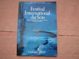Catalogue FESTIVAL Du SON 1979  Expo Haute Fidélité   B.E. - Appareils