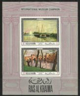 Ras Al-Khaima,International Museum Campaign 1968.,block-imperforated,MNH - Ra's Al-Chaima