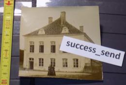 PHOTO Originale MAIZIERES GRANDE MAISON DE MAITRE (Haute-Marne ? Moselle ? Meurthe-et-Moselle ? Vers 1890 - Lugares