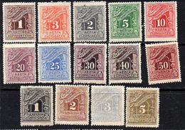 1902 Complete Set: MH (few Low Values MNH), Some Toning (114) - Portomarken