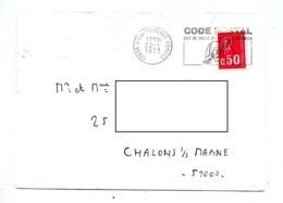 Lettre Flamme Aix En Provence Armees Code Postal - Storia Postale