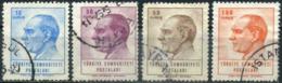 Turkey 1964/65 - Mi. 1931-34 O, Postal Stamps, Atatürk - 1921-... République