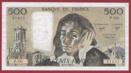 "500 Francs ""Pascal"" Du 02/06/1983.G ----VF/SUP---ALPH.P.191 - 500 F 1968-1993 ''Pascal''"