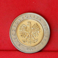 POLAND 5 ZLOTYCH 2009 -    KM# 284 - (Nº31658) - Pologne