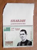Rare, Proof Printing Double Perforation Sharjah Uae Football Soccer Uruguay Player Juan Alberto Schiaffino - Uruguay