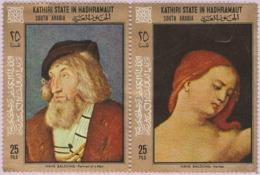 État Kathiri Dans L'Hadramaout (République Du Yémen) (MNH) - Portraits D'un Homme Et Vanitas De Hans Baldung - Yemen