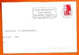 30 NIMES 17 ANS RECENSEMENT 1988  Lettre Coupée N° PP 234 - Marcophilie (Lettres)