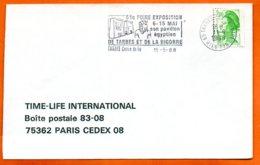 65 TARBES  SON PAVILLON EGYPTIEN 1988  Lettre Coupée N° PP 235 - Marcophilie (Lettres)