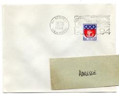 VAL De MARNE - Dépt N° 94  GENTILLY 1966 = FLAMME Codée à DROITE = SECAP  ' N° De CODE POSTAL / PENSEZ-Y ' - Zipcode