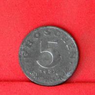AUSTRIA 5 GROCHEN 1957 -    KM# 2875 - (Nº31662) - Austria