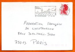 38 ST MARCELIN  SES FROMAGES   1988  Lettre Coupée N° PP 237 - Marcophilie (Lettres)