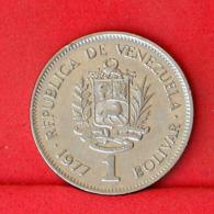 VENEZUELA 1 BOLIVAR 1977 -    KM# 52 - (Nº31664) - Venezuela