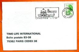 52 LANGRES   1988  Lettre Coupée N° PP 238 - Marcophilie (Lettres)