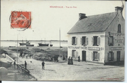 Regnéville-Vue Du Port.Restaurant Tasse. - France