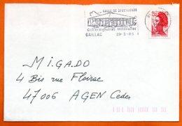 81 GAILLAC   VIGNOBLES MILLENAIRES   1989  Lettre Coupée N° PP 239 - Marcophilie (Lettres)