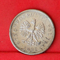 POLAND 1 ZLOTY  1991 -    KM# 282 - (Nº31665) - Polonia