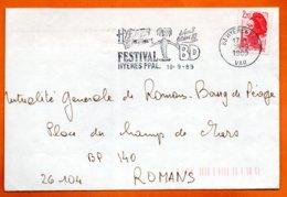 83 HYERES FESTIVAL BD    1989  Lettre Coupée N° PP 241 - Marcophilie (Lettres)