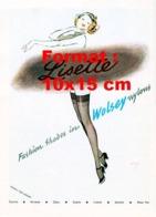 Reproduction D 'une Photographie Ancienne D'une Publicité Pour Les Bas De Nylon Lisette En 1950 - Reproducciones