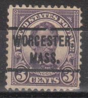 USA Precancel Vorausentwertung Preo, Locals Massachusetts, Worchester 557-L-1 E - United States