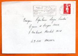 40 BISCAROSSE   LES LACS   1991  Lettre Coupée N° PP 243 - Marcophilie (Lettres)