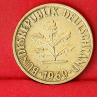 GERMANY FEDERAL REPUBLIC 10 PFENNIG 1969 F -    KM# 109 - (Nº31672) - [ 7] 1949-…: BRD
