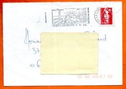 83 LA LONDE LES MAURES  SON GOLF  1992  Lettre Coupée N° PP 246 - Marcophilie (Lettres)
