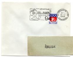 VAL De MARNE - Dépt N° 94  IVRY Sur SEINE PORT 1966 = FLAMME Codée = SECAP  ' N° De CODE POSTAL / PENSEZ-Y ' - Zipcode